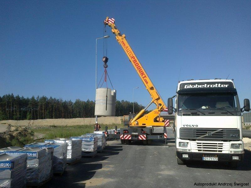 Usługi dżwigowe Żuraw Dźwig HDS Zwyżka Bochnia Brzesko Limanowa